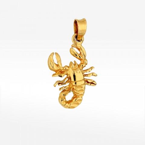 Zawieszka ze złota znak zodiaku skorpion