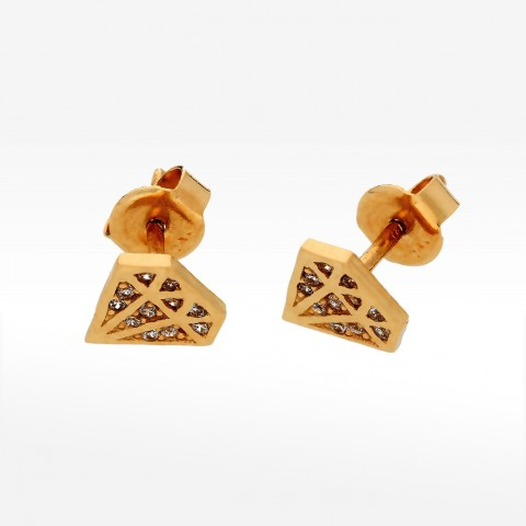 Kolczyki diamenty z cyrkoniami na sztyft