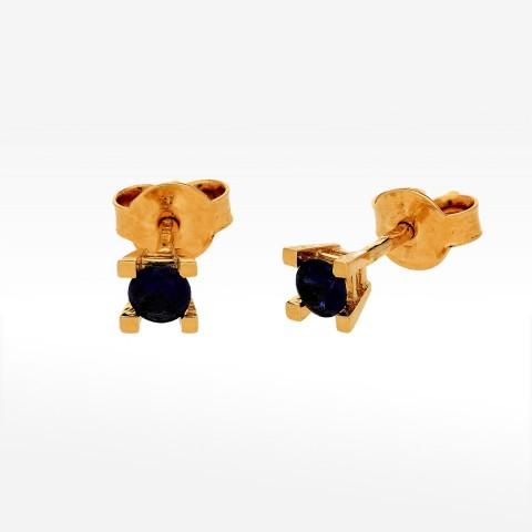 Kolczyki ze złota z szafirowymi cyrkoniami