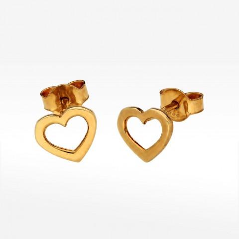 Kolczyki ze złota serduszka