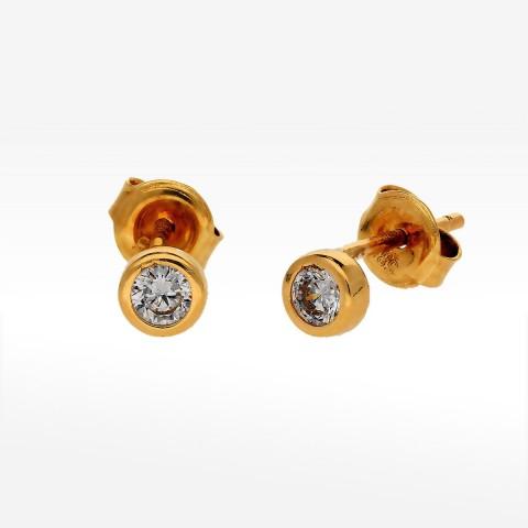 Kolczyki ze złota z cyrkonią