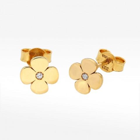 Kolczyki ze złota kwiatek