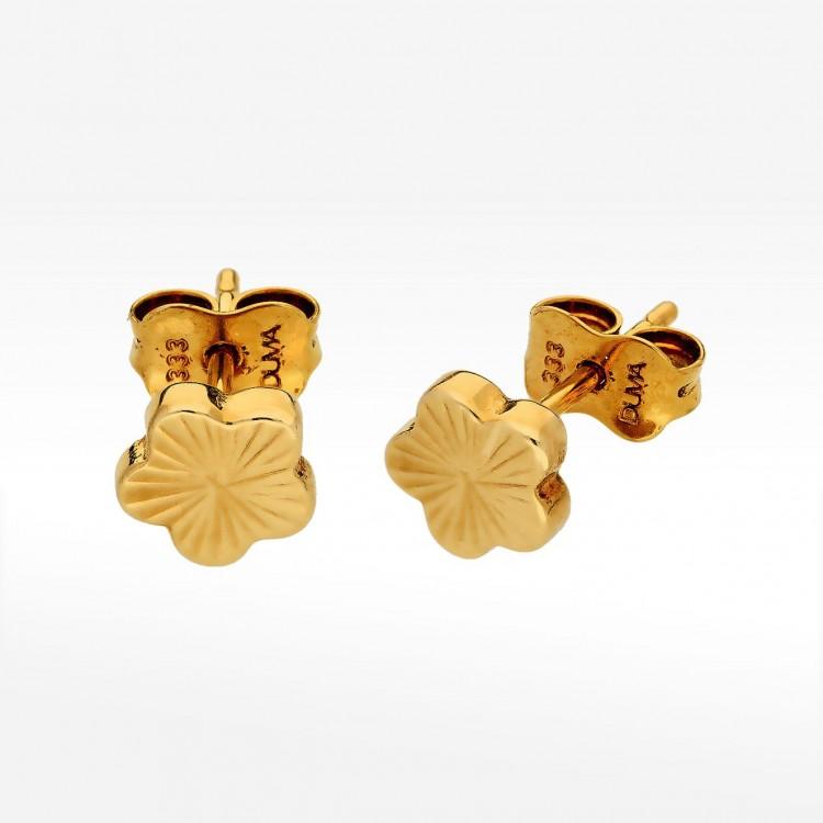 Kolczyki ze złota kwiaty