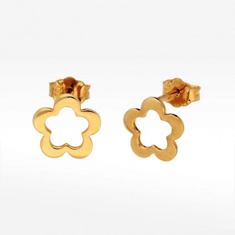 Kolczyki ze złota kwiat