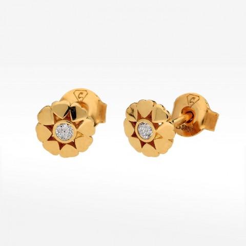 złote kolczyki z cyrkonią