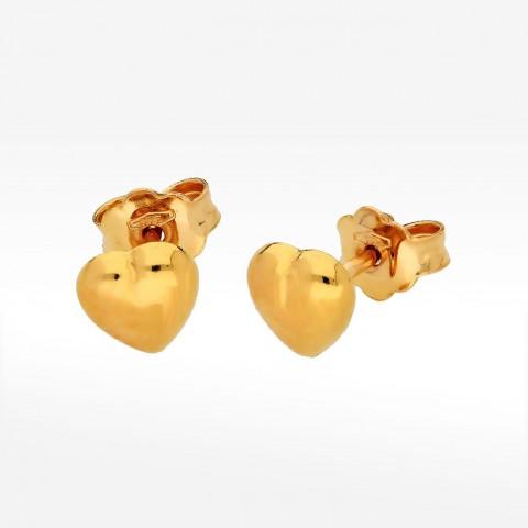 Kolczyki ze złota serce