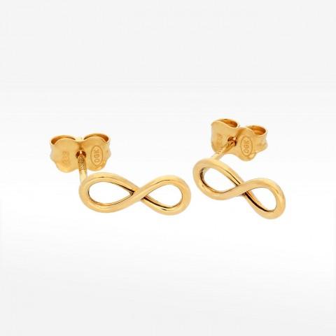 Kolczyki ze złota z symbolem nieskończności