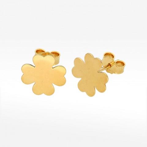 Kolczyki ze złota koniczynki