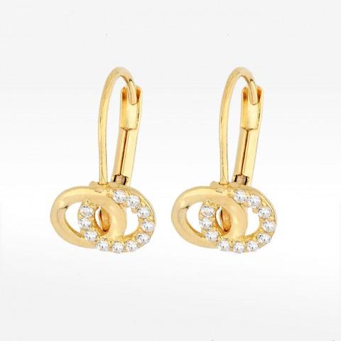 Kolczyki ze złota dwa pierścienie