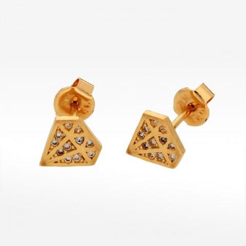 Kolczyki na sztyft w kształcie diamentu