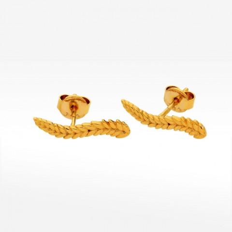 Kolczyki ze złota z motywem roślinnym