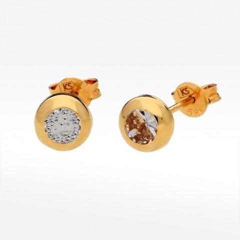 Kolczyki ze złota z cyrkonią sztyfty