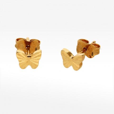Złote kolczyki motyle