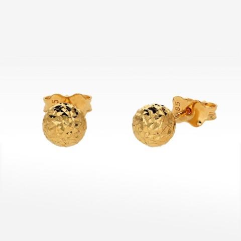 Kolczyki ze złota kulki