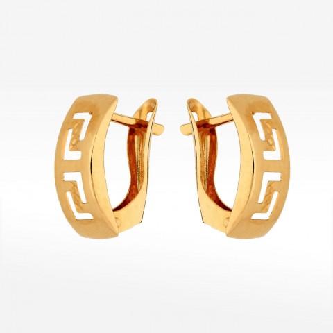 Kolczyki ze złota grecki wzór