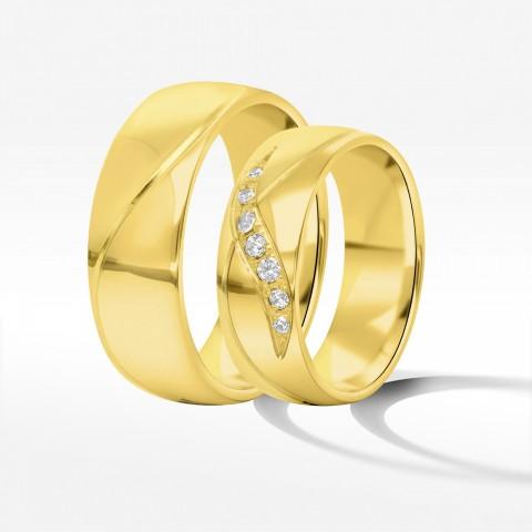 Obrączki ślubne z żółtego złota 6.5mm