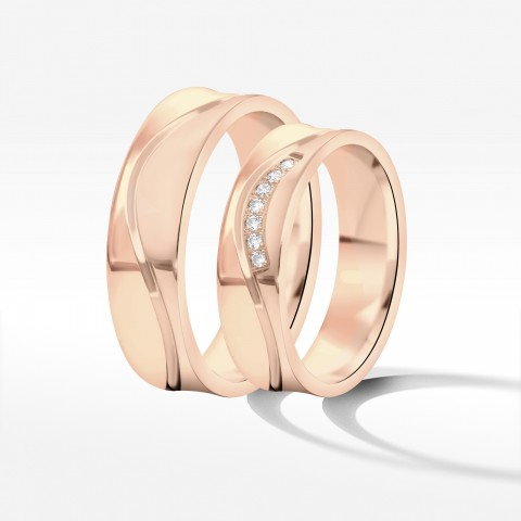 Obrączki ślubne z różowego złota 5.5mm