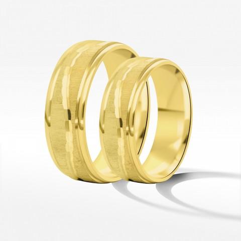 Obrączki ślubne z żółtego złota 6mm