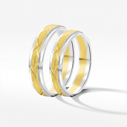 Obrączki ślubne z dwukolorowego złota 4,3mm