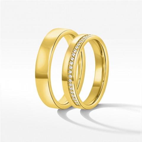 Obrączki ślubne z żółtego złota 4mm