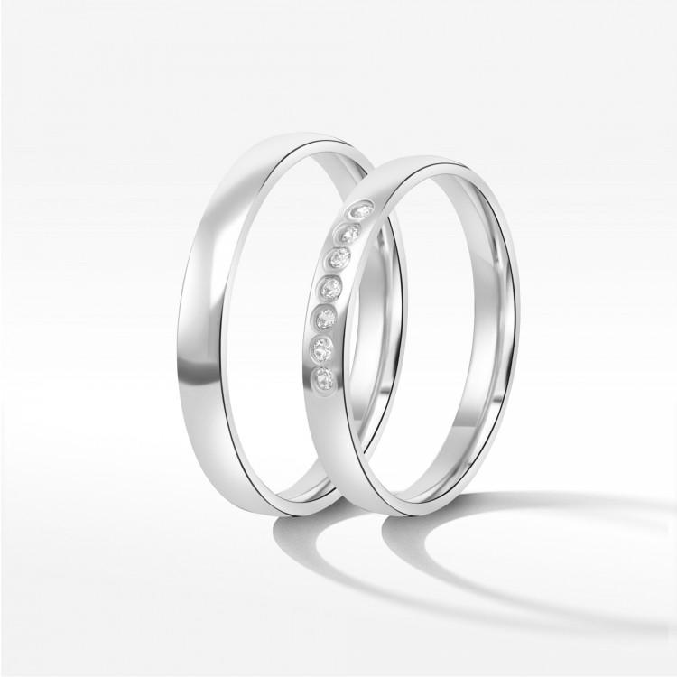 Obrączki ślubne z białego złota 3mm
