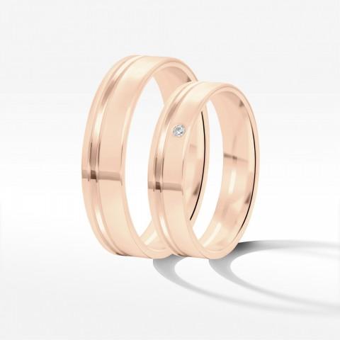 Obrączki ślubne z różowego złota 4.5mm