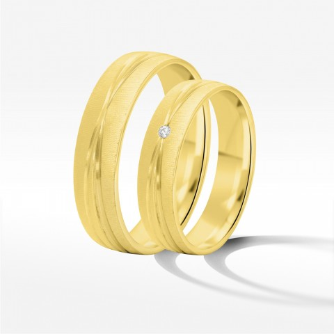 Obrączki ślubne z żółtego złota 5mm