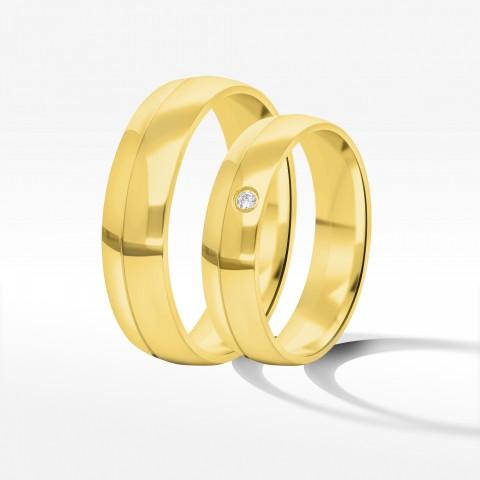Obrączki ślubne z żółtego złota 5mm/6mm