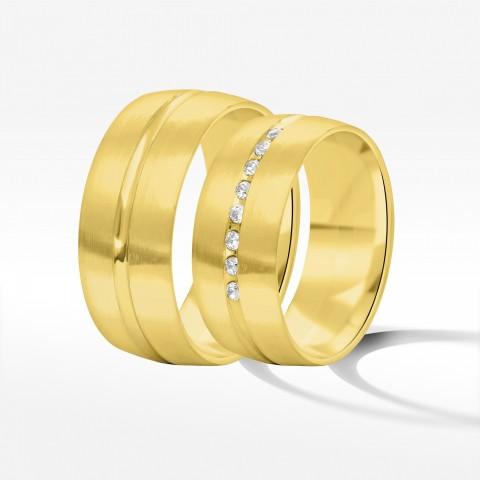 Obrączki ślubne z żółtego złota 8mm