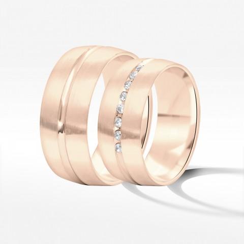 Obrączki ślubne z różowego złota 8mm