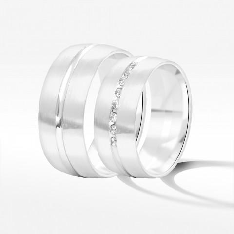 Obrączki ślubne z białego złota 8mm