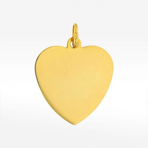 Złote zawieszka serce
