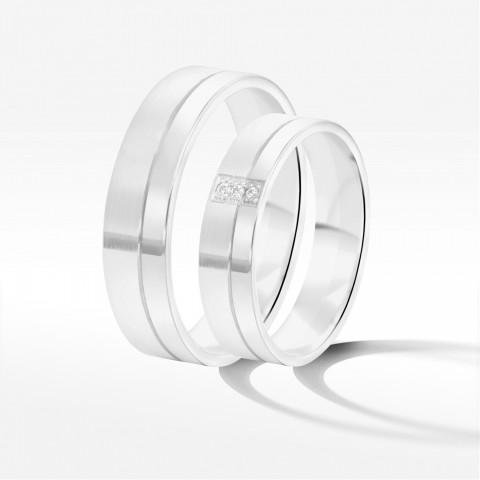 Obrączki ślubne z białego złota 5mm