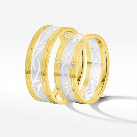 Obrączki ślubne z dwukolorowego złota 7.5mm
