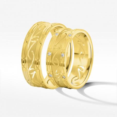 Obrączki ślubne z żółtego złota 7.5mm