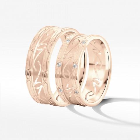 Obrączki ślubne z różowego złota 7.5mm