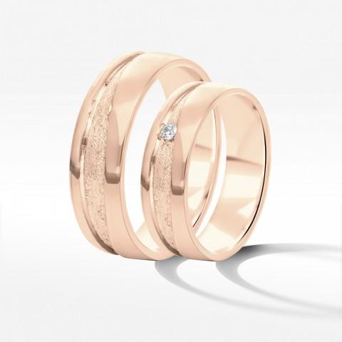 Obrączki ślubne z różowego złota 6mm
