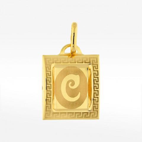 Złota zawieszka literka C