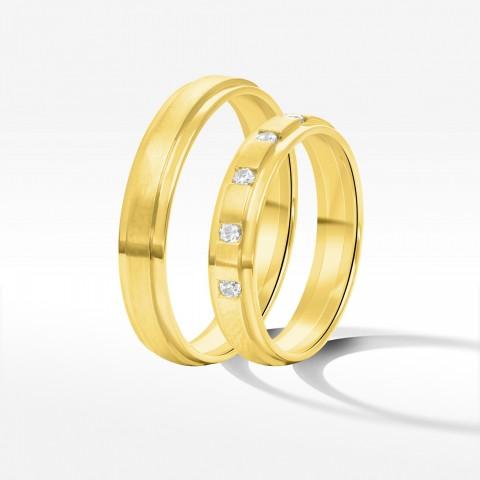 Obrączki ślubne z żółtego złota 3.5mm