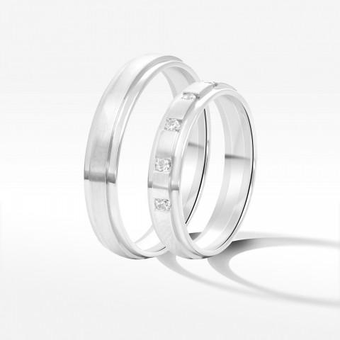Obrączki ślubne z białego złota 3.5mm