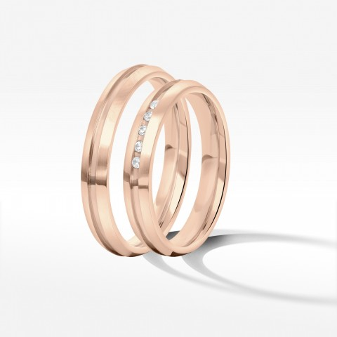 Obrączki ślubne z różowego złota 3.5mm
