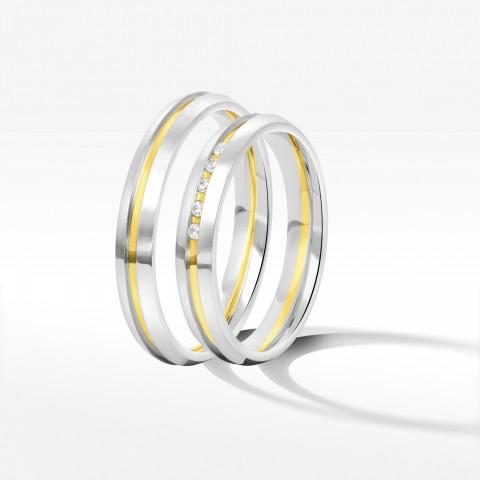 Obrączki ślubne z dwukolorowego złota 3.5mm