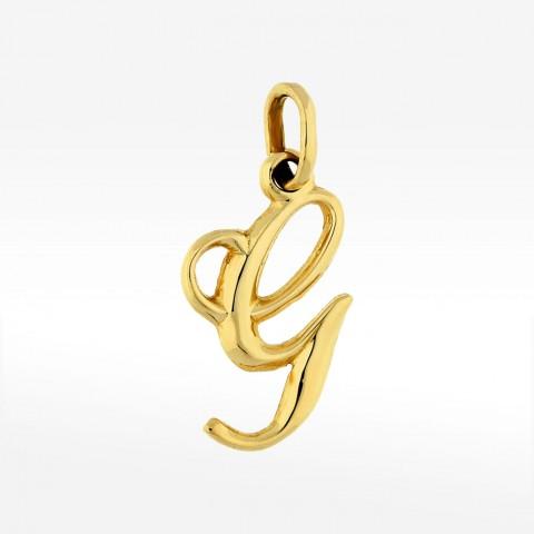 Złota zawieszka literka G