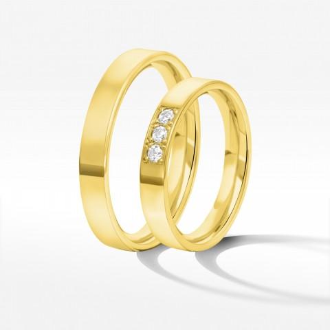 Obrączki ślubne z żółtego złota 3.7mm
