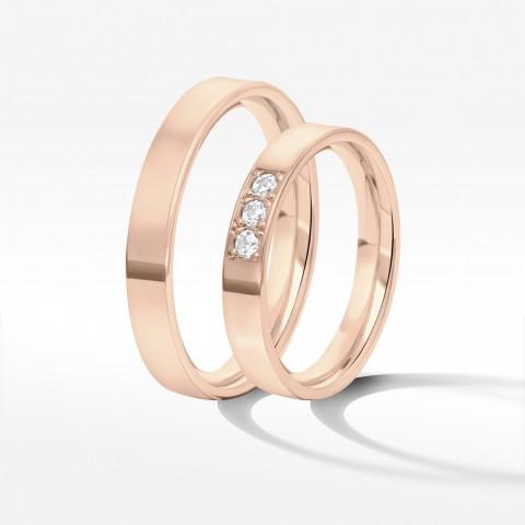 Obrączki ślubne z różowego złota 3.7mm