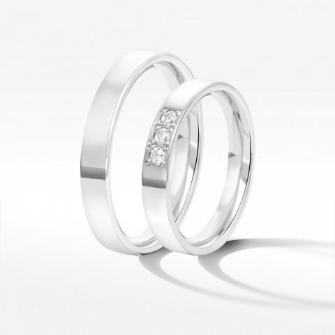 Obrączki ślubne z białego złota 3.7mm