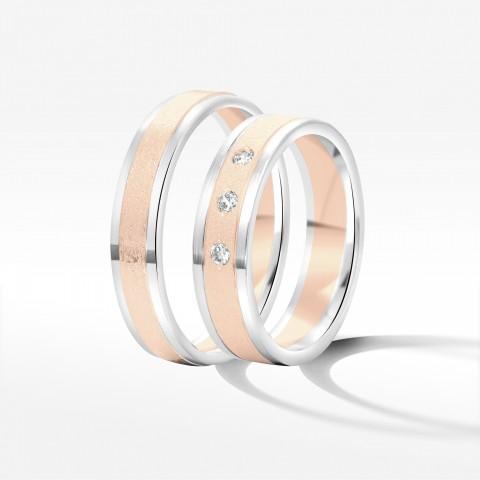 Obrączki ślubne z dwukolorowego złota 5mm