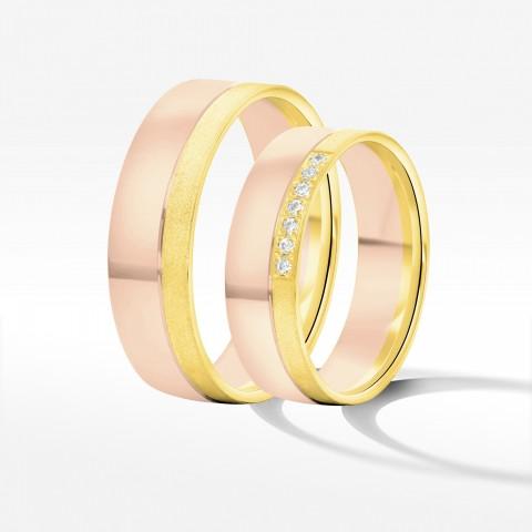 Obrączki ślubne z dwukolorowego złota 6.5mm