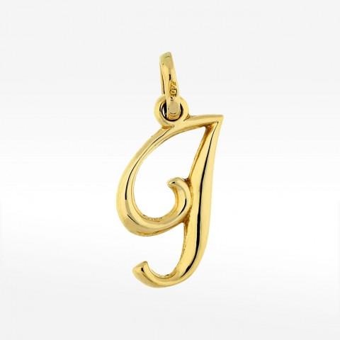 Złota zawieszka literka J