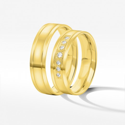 Obrączki ślubne z żółtego złota 5.5mm